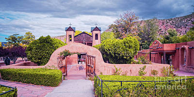 Photograph - El Santuario De Chimayo - Rio Arriba Santa Fe County - New Mexico Land Of Enchantment by Silvio Ligutti