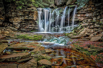 Photograph - Elakala Falls 1020 by Donald Brown