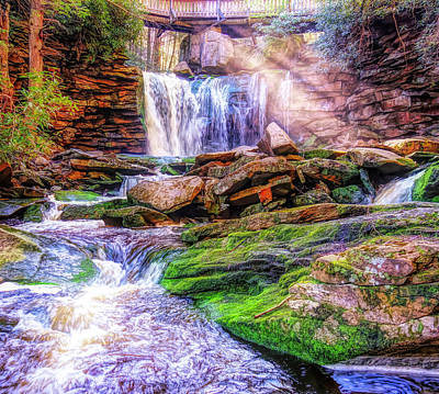 Mixed Media - Elakala Falls West Virginia by Dan Sproul