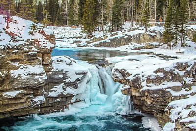 Photograph - Elbow Falls In Late Winter Ice Cover, Elbow Falls, Provincial Re by David Butler