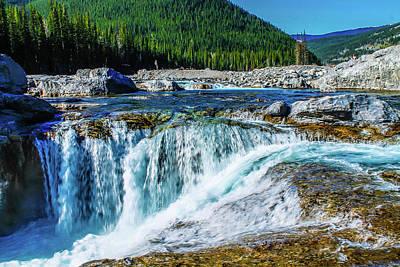 Photograph - Elbow Falls In Summer, Elbow Falls, Provincial Recreation Area,  by David Butler