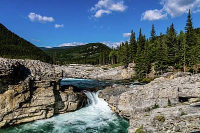 Photograph - Elbow River And Elbow Falls, Elbow Falls Provincial Recreation A by David Butler