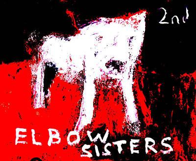 Digital Art - Elbow Sisters 2nd Dog Red Black by Artist Dot