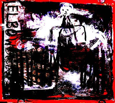 Digital Art - Elbow Sisters 2nd Red Stander by Artist Dot