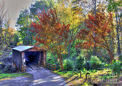 Andrea Grist Wall Art - Photograph - Elder Mill Covered Bridge In The Fall by Andrea Callaway