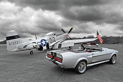 Photograph - Eleanor Mustang With P51 Rear by Gill Billington