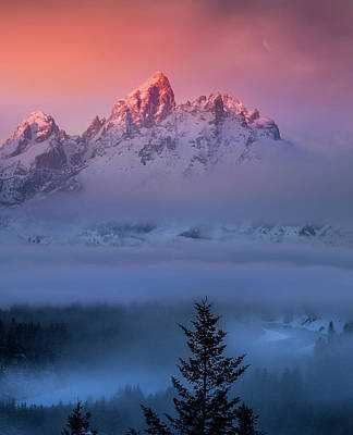 Photograph - Electic Sunrise / Grand Teton National Park  by Nicholas Parker