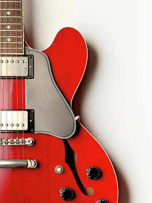Photograph - Electric Guitar From Above by Jonathan Kitchen