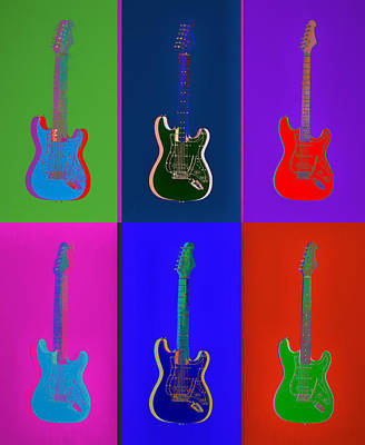 Royalty-Free and Rights-Managed Images - Electric Guitar Pop Art Panels by Dan Sproul