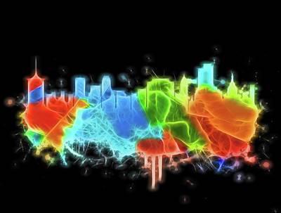 Digital Art - Electric Neon Tulsa Oklahoma by Dan Sproul