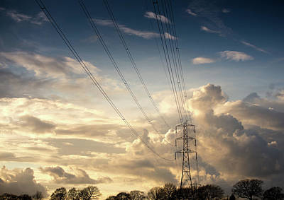 Cheshire Wall Art - Photograph - Electric Pylon by Peter Chadwick Lrps