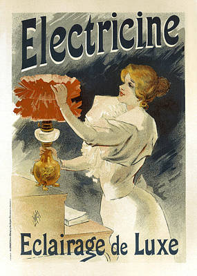 Painting - Electricine Eclairage De Luxe by Vintage French Advertising