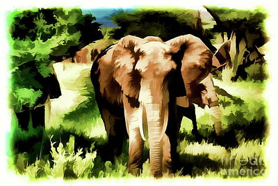Painting - Elephant A18-101 by Ray Shrewsberry