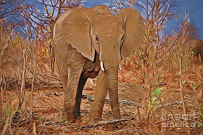 Painting - Elephant A18-46 by Ray Shrewsberry