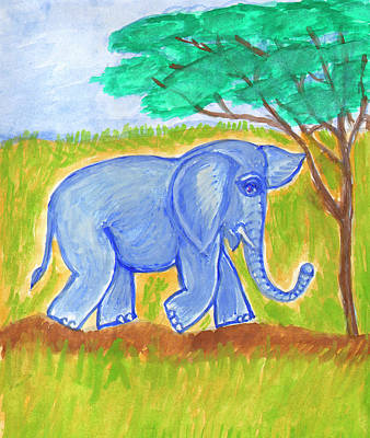 Painting - Elephant by Dobrotsvet Art