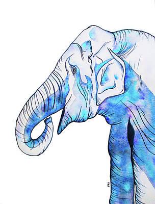 Wall Art - Painting - Elephant by Patrizia K Ingram