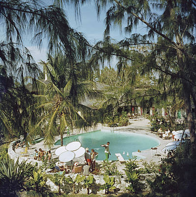 Tree Photograph - Eleuthera Pool Party by Slim Aarons