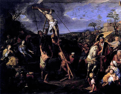 Painting - Elevation Of The Cross by Charles le Brun
