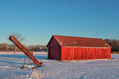 Photograph - Elevator And Shed by Todd Klassy