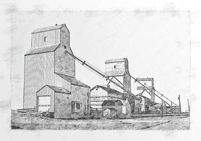Drawing - Elevator Row by Brad Allen Fine Art