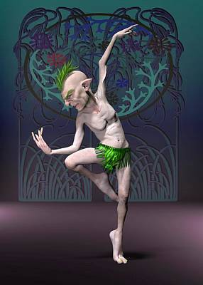 Fantasy Royalty-Free and Rights-Managed Images - Elf dancer by Joaquin Abella