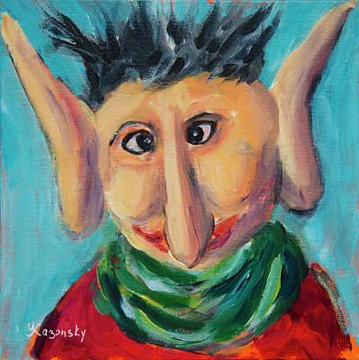 Painting - Elf by Yulia Kazansky