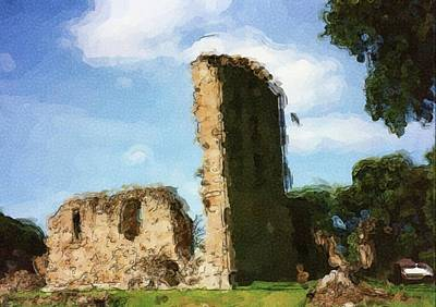 Digital Art - Elgin Cathedral Ruins Painting by JLowPhoto