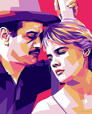 Modern Man Mountains - Eli Wallach and Carroll Baker by Stars on Art