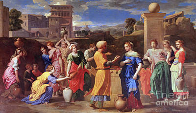 Painting - Eliezer And Rebecca, 1648 by Nicolas Poussin