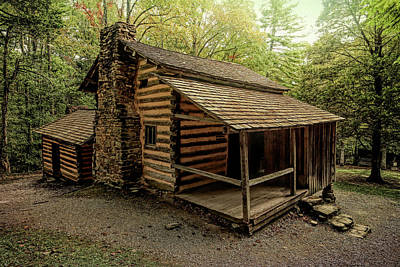 Beaches And Waves Rights Managed Images - Elijah Oliver Cabin Cades Cove 2 Royalty-Free Image by Judy Vincent