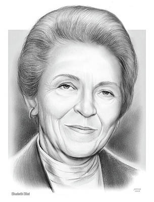 Drawings Royalty Free Images - Elisabeth Elliot Royalty-Free Image by Greg Joens