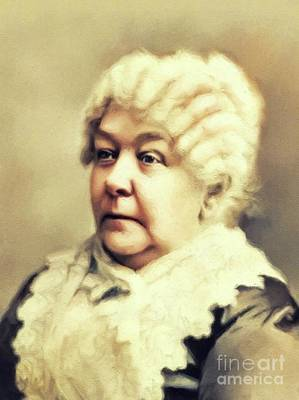 Bringing The Outdoors In - Elizabeth Cady Stanton, Suffragette by Esoterica Art Agency