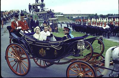 Photograph - Elizabeth II & Family Rf England by Loomis Dean