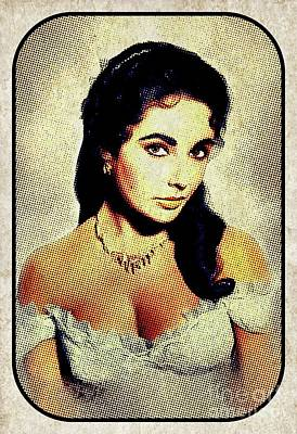Actors Royalty-Free and Rights-Managed Images - Elizabeth Taylor, Hollywood Legend by Esoterica Art Agency