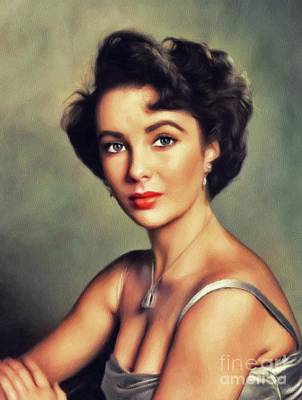 Actors Royalty-Free and Rights-Managed Images - Elizabeth Taylor, Hollywood Legend by John Springfield