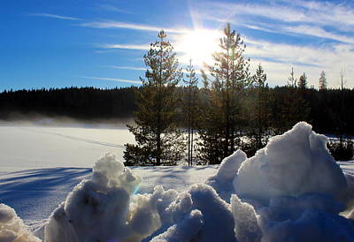 Photograph - Elk River Reservoir 2 by Jean Evans