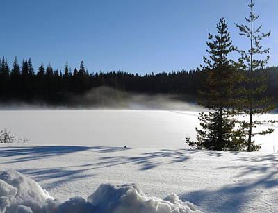 Photograph - Elk River Reservoir by Jean Evans