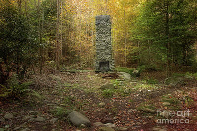 Abandoned Elkmont Wall Art - Photograph - Elkmont Chimney Remains 10 by Mike Eingle