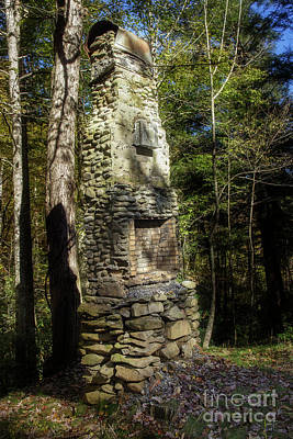 Abandoned Elkmont Wall Art - Photograph - Elkmont Chimney Remains 3 by Mike Eingle