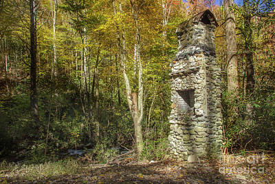 Abandoned Elkmont Wall Art - Photograph - Elkmont Chimney Remains 4 by Mike Eingle