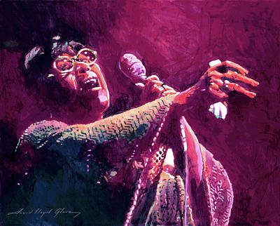 Jazz Painting Royalty Free Images - Ella Fitzgerald Jazzy Royalty-Free Image by David Lloyd Glover