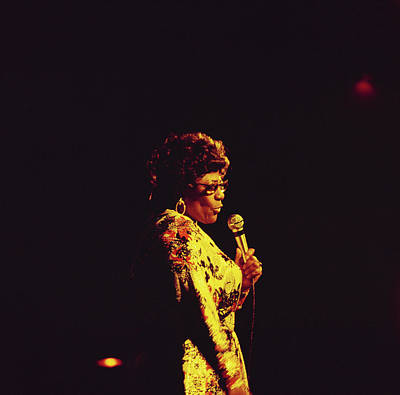 Photograph - Ella Fitzgerald Performs On Stage by David Redfern
