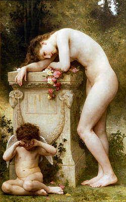 Painting - Ellergy 1899 William Bouguereau by William Bouguereau