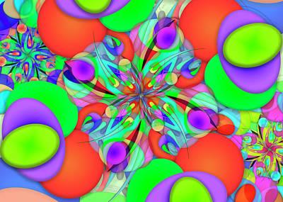 Digital Art - Ellipse Complex Remix by Vitaly Mishurovsky