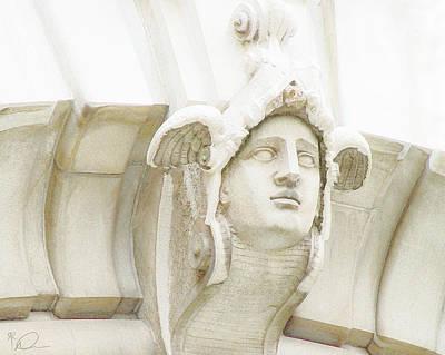 Digital Art - Ellis Island Stone Cornice by David Derr