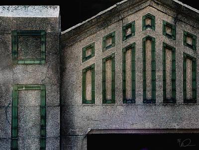 Digital Art - Ellis Island Wall by David Derr