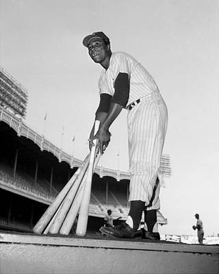 The Bronx Photograph - Elston Howard, The First Black Player by New York Daily News Archive