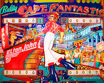 Photograph - Elton John Captain Fantastic Arcade Pinball Machine Nostalgia 20181220 by Wingsdomain Art and Photography