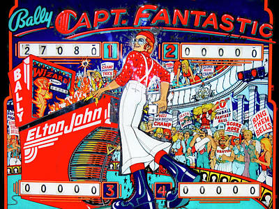 Elton John Pinball Wizard Art Print