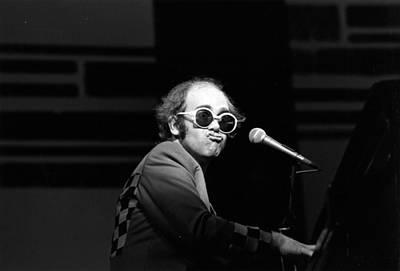 Photograph - Elton Live by Robin Jones